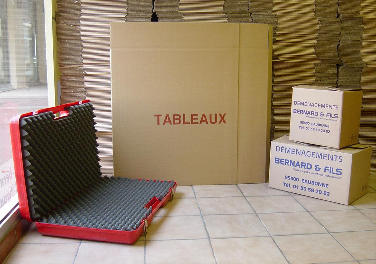 Boite de cartons pour déménagement avec valise pour ranger les objets précieux