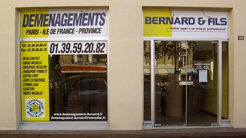 Devanture du magasin Bernard et Fils à Eaubonne (95)